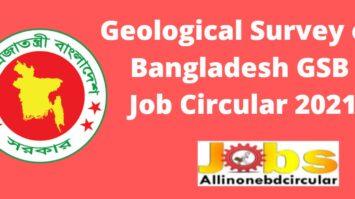 Geological Survey of Bangladesh GSB Job Circular 2021